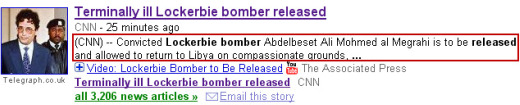 Google News snippet of CNN.com article