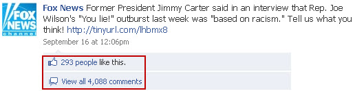 Fox News Facebook - Jimmy Carter comments