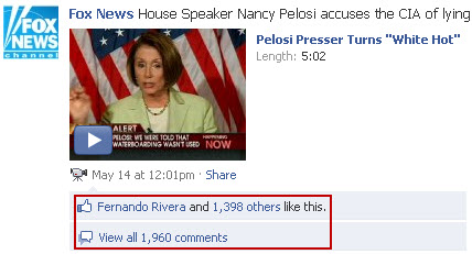 Fox News Facebook - Nancy Pelosi comments
