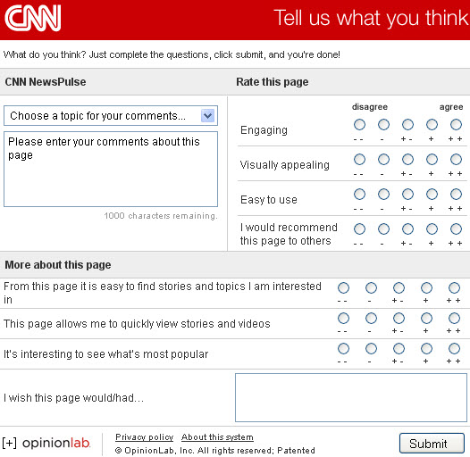 CNN NewsPulse survey