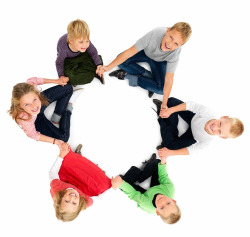 children sitting in a circle