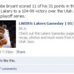 NBA Playoff Teams Ranked by Facebook Page Engagement