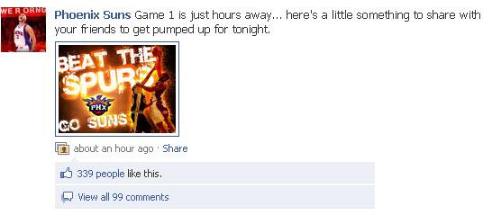 Phoenix Suns Facebook page