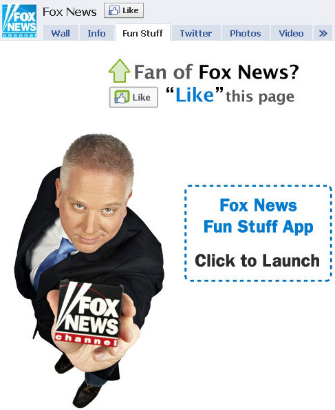 Fox News - Facebook welcome tab