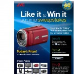 JVC Like it to Win it Facebook Page sweepstakes