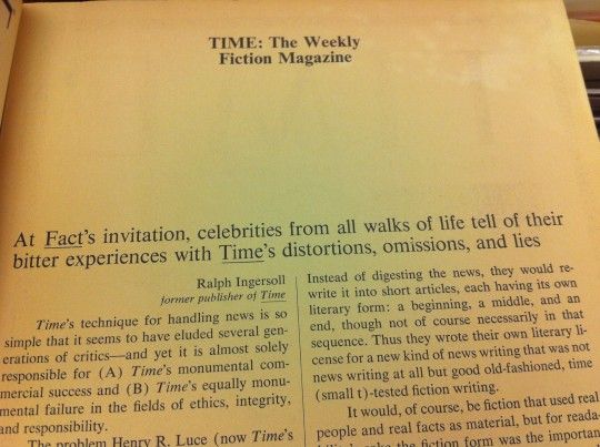 Fact Magazine 1964 - Time Magazine article