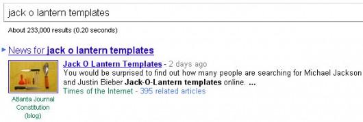 Google News - jack-o-lantern templates
