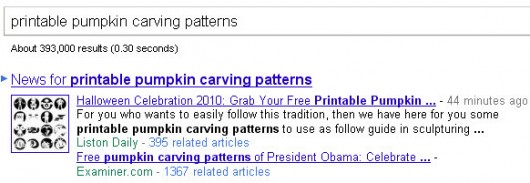 Google News - printable pumpkin carving patterns