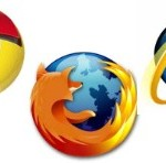 Google Chrome, Firefox, Internet Explorer logos