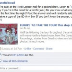 Grateful Dead Facebook wall post