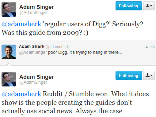 Adam Singer tweets