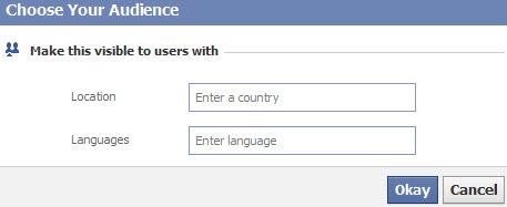 Facebook geotargeting