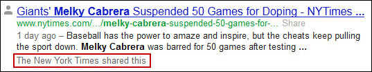 Annotated Google SERP for Melky Cabrera
