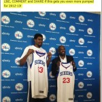 Philadelphia 76ers - Andrew Bynum Press Conference Facebook post