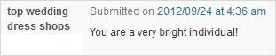 praise blog comment