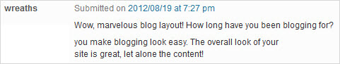 simple blog comment 1