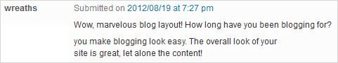 simple blog comment 1