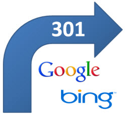 301 redirects Google Bing