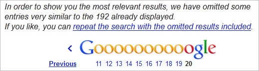 Google omitted results - 301 redirect migration
