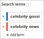 Google Trends - celebrity terms