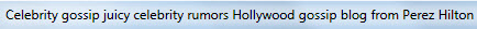 Perez Hilton title tag