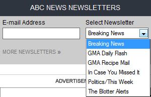 ABC News email newsletters