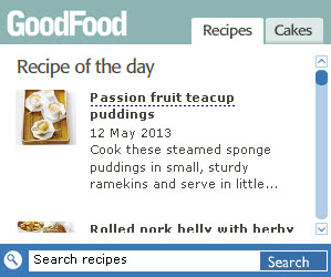 BBC GoodFood widget