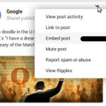 Google News Tip for Google+ Embedded Posts