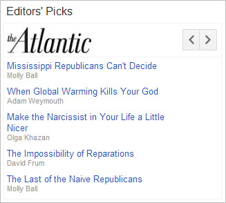 Google News Editors' Picks