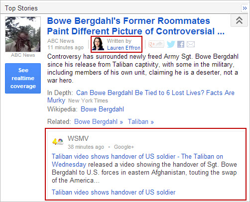 Google News - Google+ and Authorship