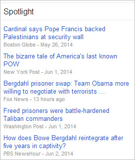 Google News Spotlight section