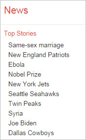 Google News top stories